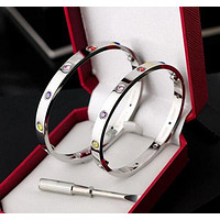 Cartier classic men and women with the paragraph does not fade simple simple bracelet F/I11123-1