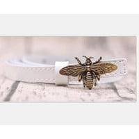GUCCI Bee Woman Fashion Smooth Buckle Belt Leather Belt