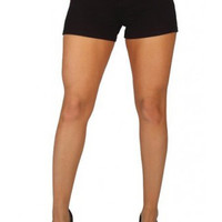 Women's Black Brazilian Moleton Shorts