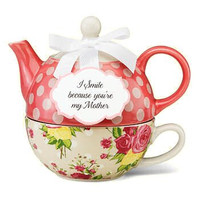 """""""I Smile Because You're My Mother"""" Tea for One Set"""