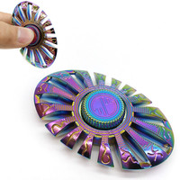 Rainbow Fidget Spinner Finger Spinner Hand Spinner Brass Metal For Autism Adult Anti Relieve Stress Toy Spiner Stres Carki