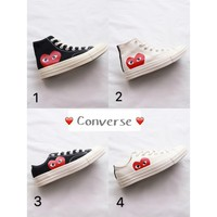 Original Converse CDG X Converse 1970s Play Canvas Shoes
