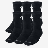 The Nike Dri-FIT Cushion Crew Training Socks (Large/6 Pair).