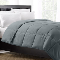 Grey Exquisite Hotel Collection Down Alternative Comforter / Full/Queen Size
