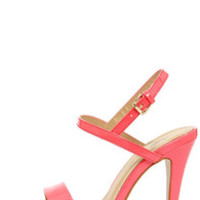 Ginger Pink Patent Strappy Dress Sandals
