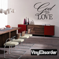 God is love Scriptural Christian Vinyl Wall Decal Mural Quotes Words C031GodisloveII