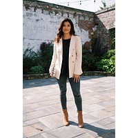 The Way It Goes Linen Blazer, Beige
