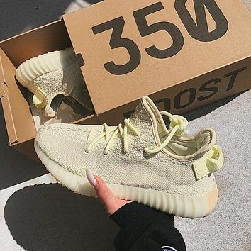 Adidas Yeezy Boost 350 Butter Men's and Women's Sneakers Shoes