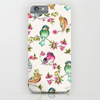 birds; iPhone & iPod Case by Pink Berry Patterns