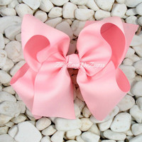 """Light Pink Boutique Bow - Beautiful Huge Bow Made with 3"""" Ribbon"""