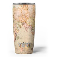 The Eastern World Map - Skin Decal Vinyl Wrap Kit compatible with the Yeti Rambler Cooler Tumbler Cups