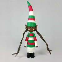 Brown Elf Ornament Black Elf- Christmas ornament, African American, quilled elf figurine, Christmas elf decoration, cute Christmas ornament