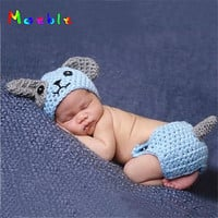Doorbuster - Puppy Dog Newborn Baby Knitted Infant Animal Costume - Holiday 2020 LIMITED QUANTITY