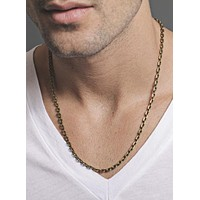 Brass Chain Necklace for Men