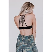 Tattoo Bralette - Black