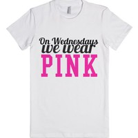 On Wednesdays We Wear Pink shirt - Mean Girls-Female White T-Shirt