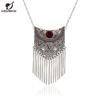 2016 New Maxi Necklace Fashion Ethnic Collares Vintage Long Pendant Steampunk Statement Necklaces Women Collier Femme Jewelry