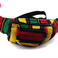 Jamaican Fanny Pack   Rastafarian Fanny Pack for Raves