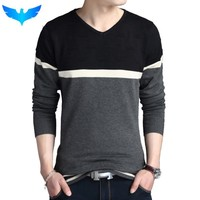 Sweater Pullover Men Casual Slim Sweaters Men Fashion Hedging V-Neck Men'S Sweater