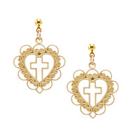 SACRED HEART. MINI DROP EARRINGS