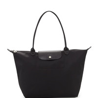 Le Pliage Neo Large Shoulder Tote Bag, Black - Longchamp
