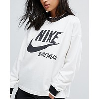 Nike Archive White Top Sweater Pullover Sweatshirt  - Love Q333