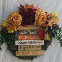 Fall Decoration, Fall Wreath, Beautiful Autumn Wreath, Harvest Fall Decor, Autumn  Wall Decor, Autumn Harvest Wreath, Thanksgiving Wreath