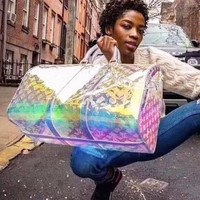 Louis Vuitton LV Trending Popular Women Personality Laser Luggage Travel Bags Tote Handbag