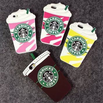 Starbuck Coffee Cup Case Cover for Apple iPhone 4 4s 5 5s SE 6 6S 6