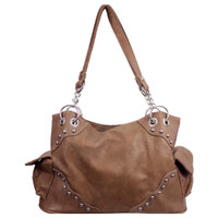 """Fashion and Style Khaki Brown """"Must Have"""" Shoulder Bag, Purse"""