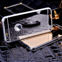 Luxury Mirror Electroplating Soft Clear Tpu Cases For iPhone 6 4.7 inch Back Cover Protective Phone Cases