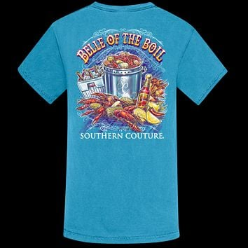 Southern Couture Belle of the Crawfish Boil Comfort Colors T-Shirt