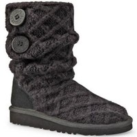 UGG Big Kids Lattice Cardy Boot Black Size 5