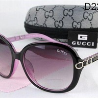 GUCCI Trending Ladies Men Stylish Sun Shades Eyeglasses Glasses Black Frame I