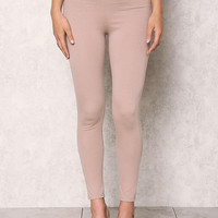 Taupe High Rise Skinny Pants