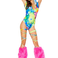 Rave Ready Hooded Romper| Rave Wear