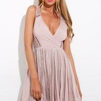 No Love Allowed Dress Mauve