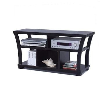 Astonishing Entertainment TV Stand, Black By Crown Mark
