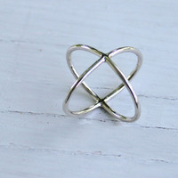 The Popular X Ring, X-Ring, sterling silver X ring, eco friendly, statement, novelty, women
