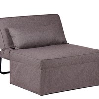 Chic Convertible Chaise Lounge Accent Chair, Ottoman - Twin Bed with Serta Mattress