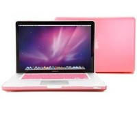 GMYLE Pink Matte Frosted Hard Case Cover for Apple Macbook Pro 15 inch (Model: A1286) With Pink Keyboard Cover (Not Fit For Macbook Pro Retina 15 inch)