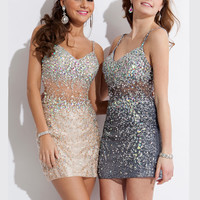 Sweetheart Beaded Homecoming Dress Rachel Allan 6672
