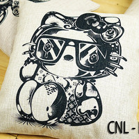 """Best Design CNL - Hello Kitty Pillow Cases Linen Decorative Pillow Case for Home Decor 18"""" x 18"""" inches"""