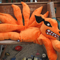 Nine Tail Fox Plush, Naruto - MADE TO ORDER