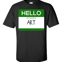 Hello My Name Is ART v1-Unisex Tshirt