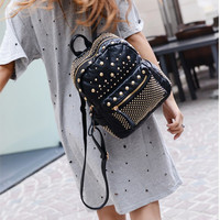 Hot Deal Back To School Comfort On Sale Stylish College Fashion Rinsed Denim Korean Casual Backpack [4919390468]