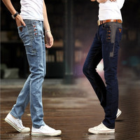 Men's Casual Stylish Slim Fit Jeans Long Skinny Pants = 1704176324