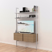 PAL50MEDIA Pole Mounted Media Unit for TV