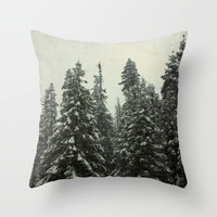 First Snow Throw Pillow by Shawn King