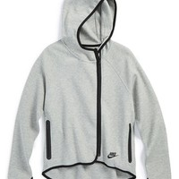 Girl's Nike 'Tech' Hooded Fleece Jacket